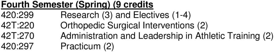 Surgical Interventions (2) 42T:270 Administration