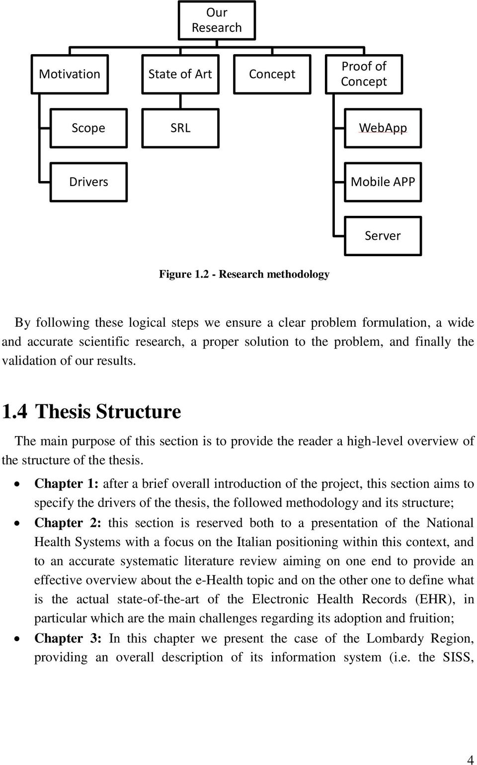 of our results. 1.4 Thesis Structure The main purpose of this section is to provide the reader a high-level overview of the structure of the thesis.