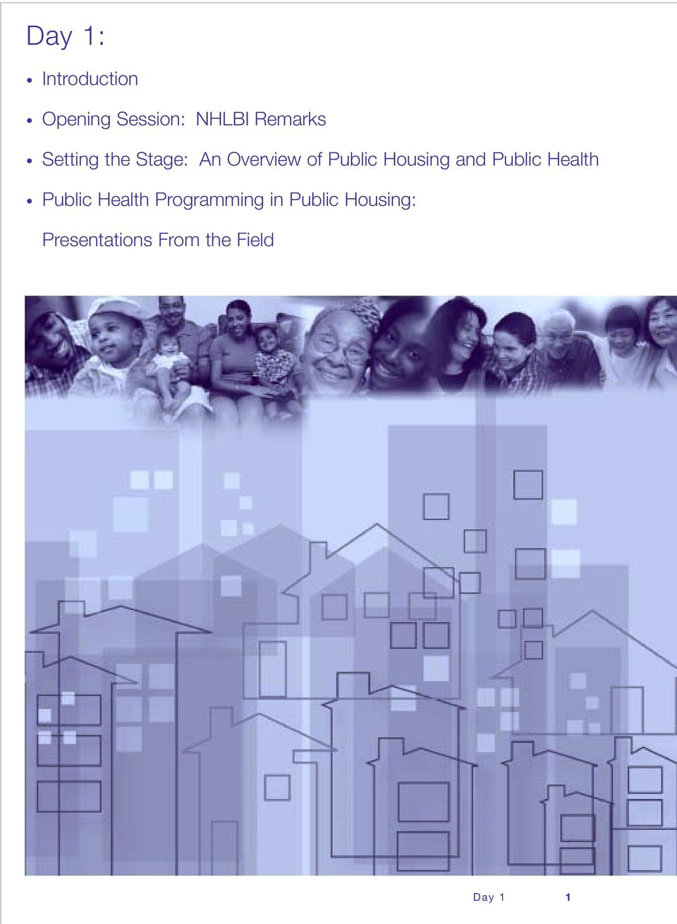 Housing and Public Health Public Health