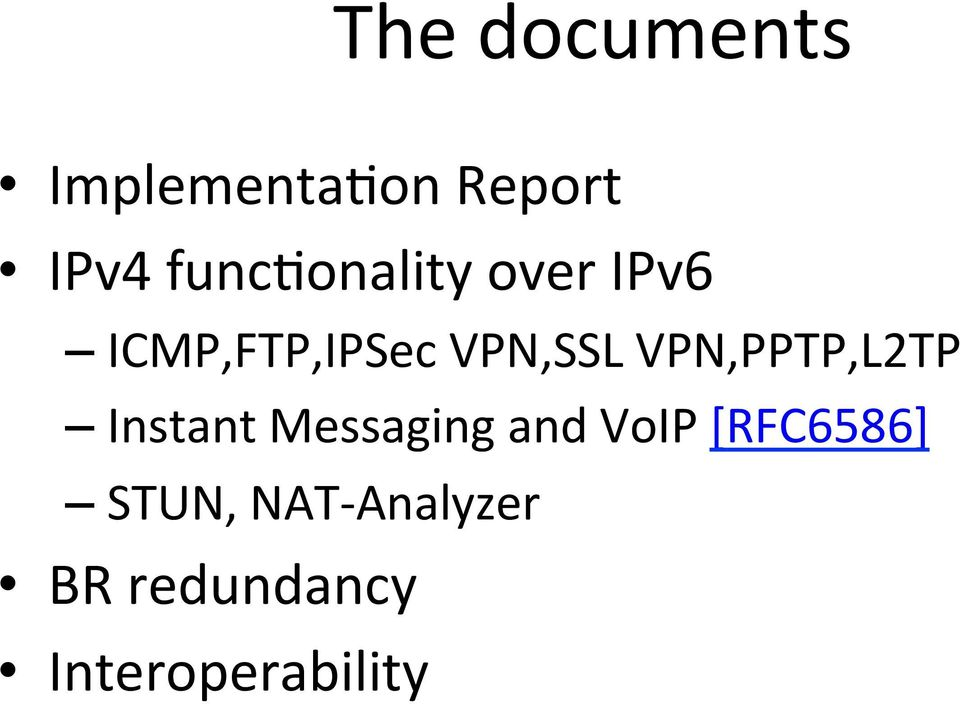 VPN,PPTP,L2TP Instant Messaging and VoIP