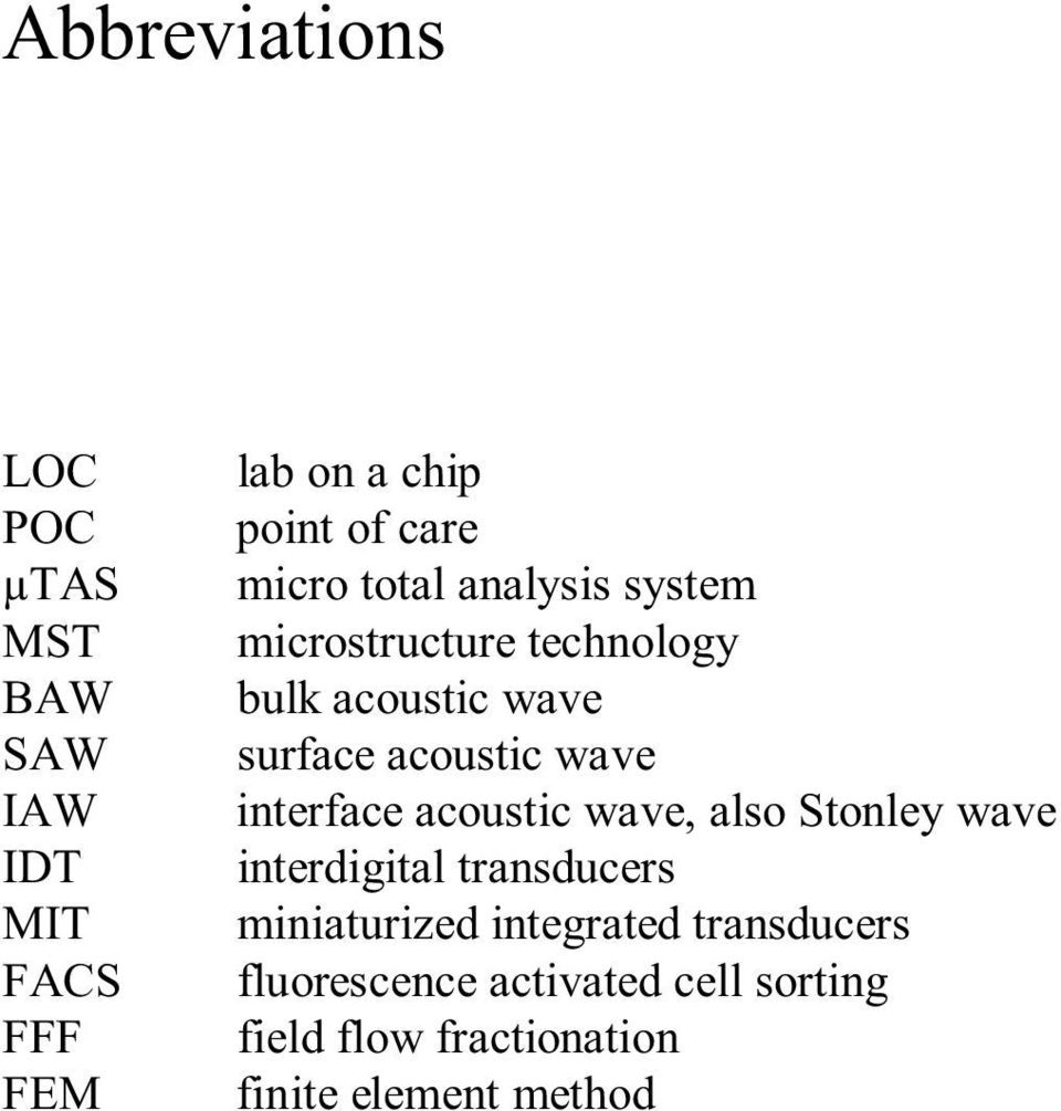 wave interface acoustic wave, also Stonley wave interdigital transducers miniaturized