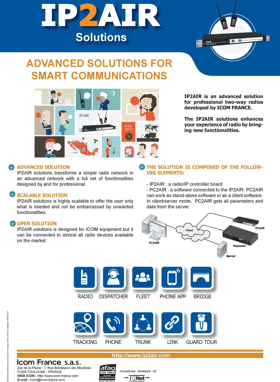 MEXICO ADVANCED SOLUTION IP2AIR solutions transforms a simple radio network in an advanced network with a full set of functionalities designed by and for professional.