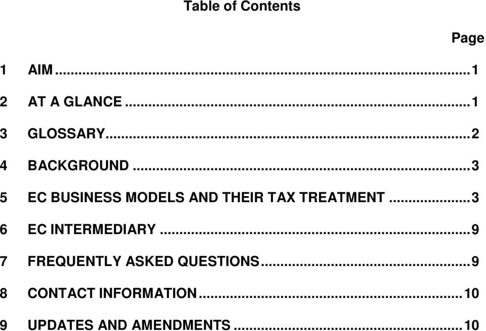 .. 3 5 EC BUSINESS MODELS AND THEIR TAX TREATMENT.