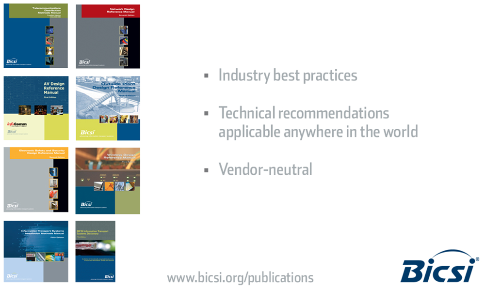 Technical Publications Industry best Practices Technical recommendations Vendor-neutral Telecommunications Distribution Methods Manual (TDMM) Electronic Safety