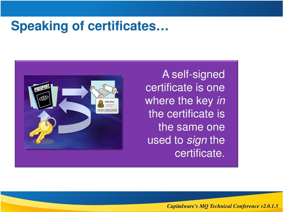 where the key in the certificate