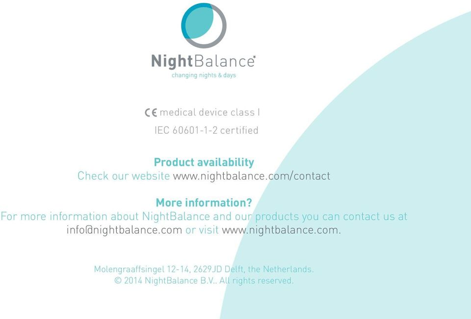 For more information about NightBalance and our products you can contact us at