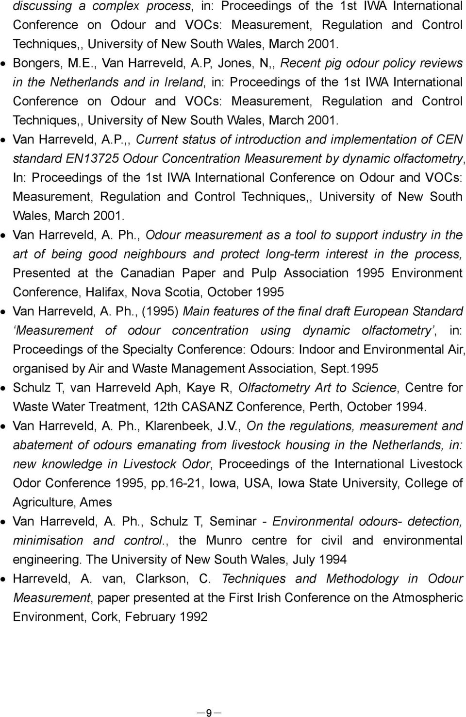 P, Jones, N,, Recent pig odour policy reviews in the Netherlands and in Ireland, in: Proceedings of the 1st IWA International Conference on Odour and VOCs: Measurement, Regulation and Control