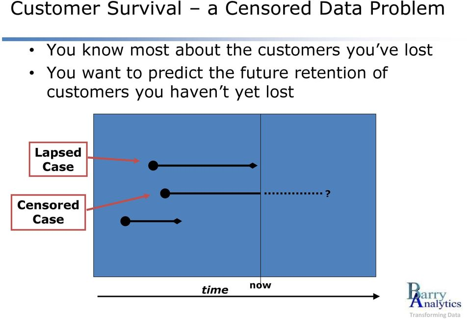 want to predict the future retention of customers