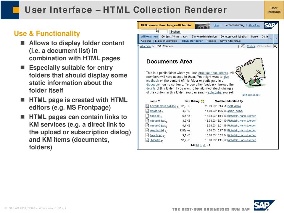 the folder itself HTML page