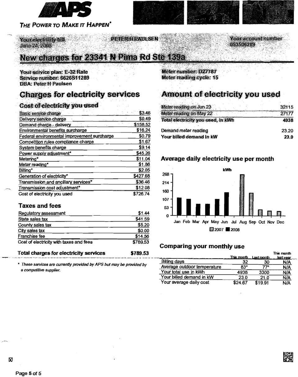 79 Competition rules wmpllance charge - $1.67 System-benefits charge $9.14 Power su~plvadiustment* $45.26 Meteringf $1 1.04 Meter reading* $1.86 Billing' $2.05 Generation of electricity' $427.