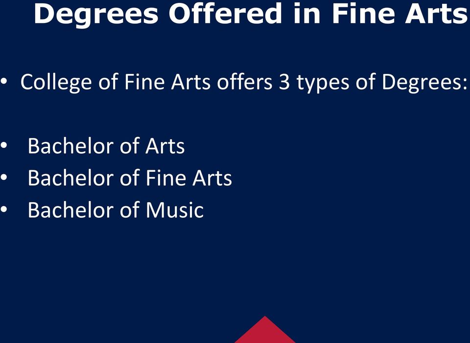 types of Degrees: Bachelor of