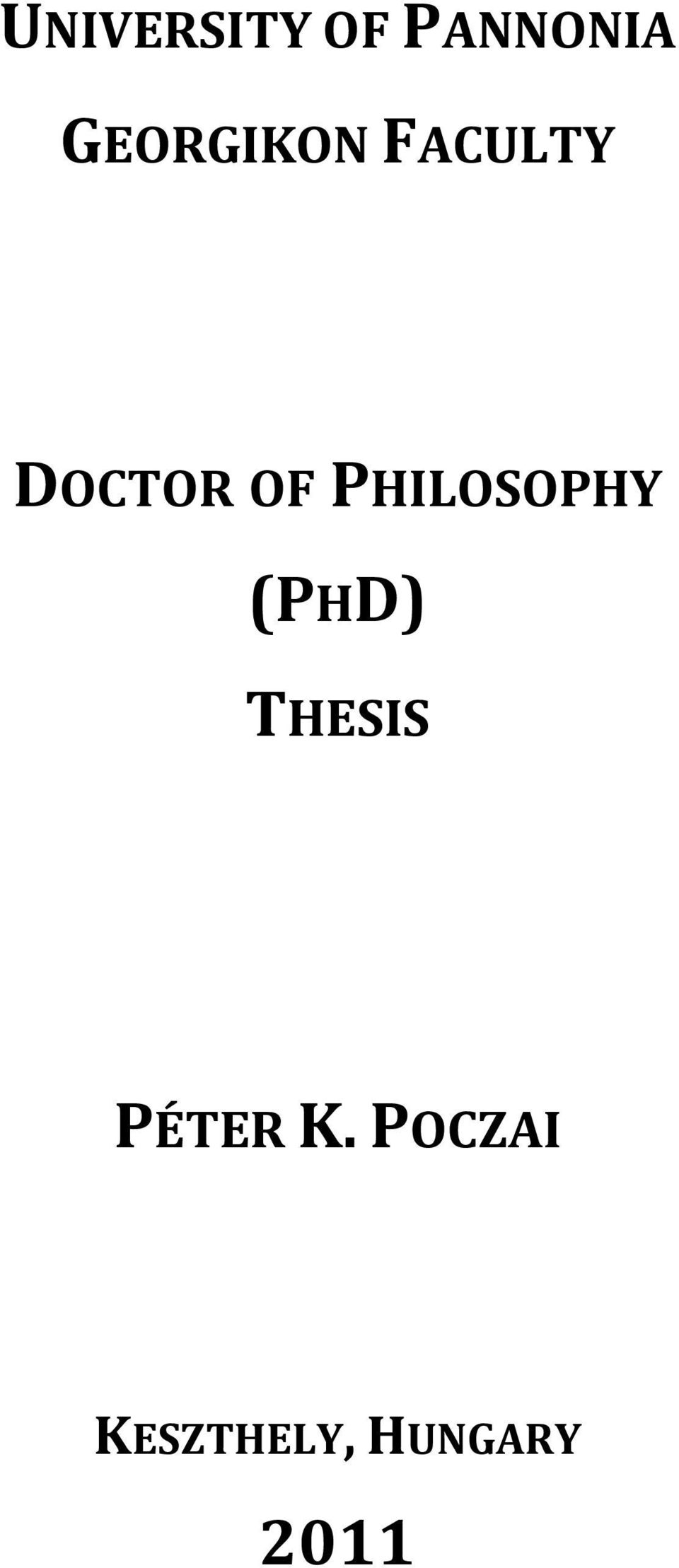 PHILOSOPHY (PHD) THESIS