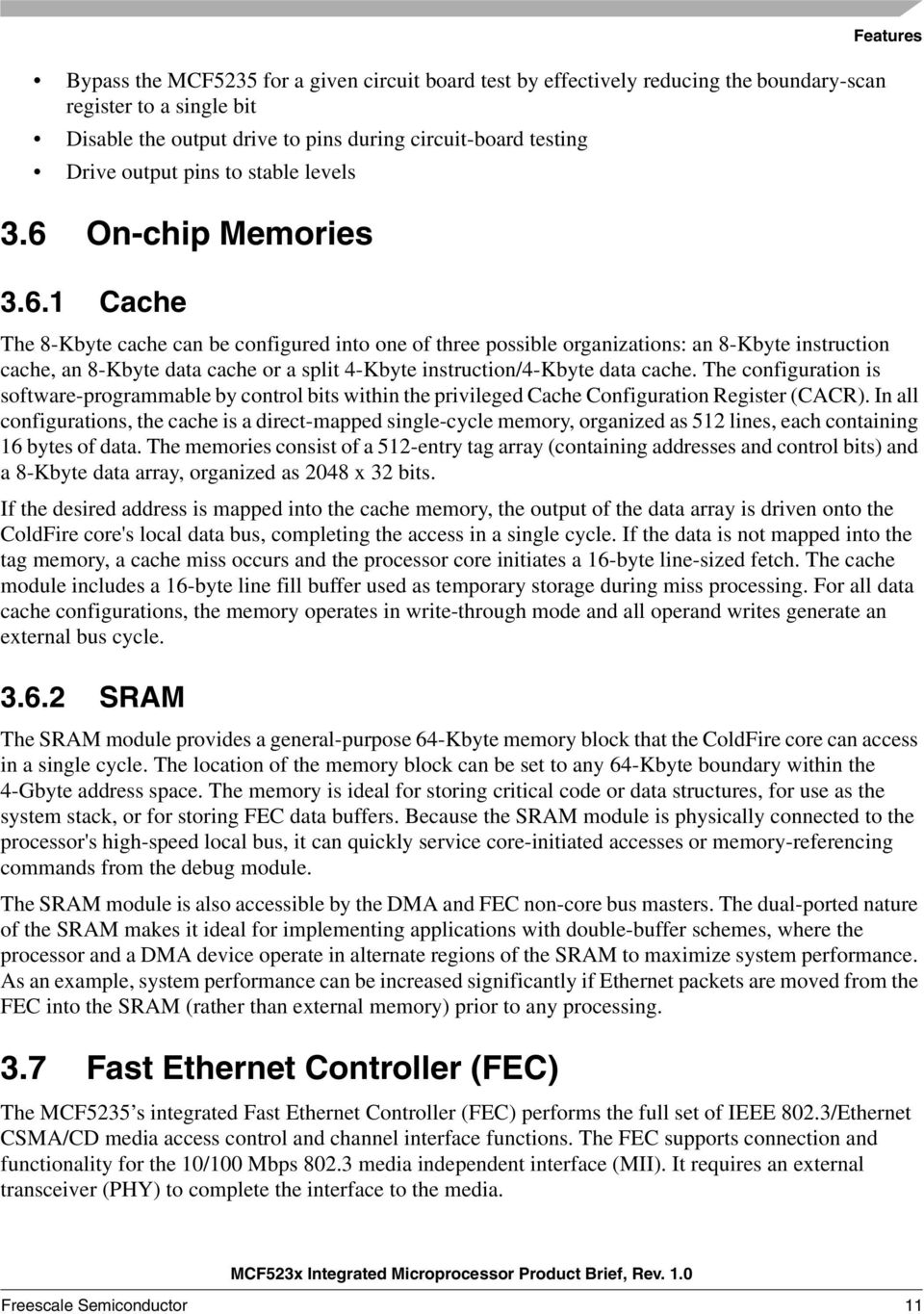 On-chip Memories 3.6.