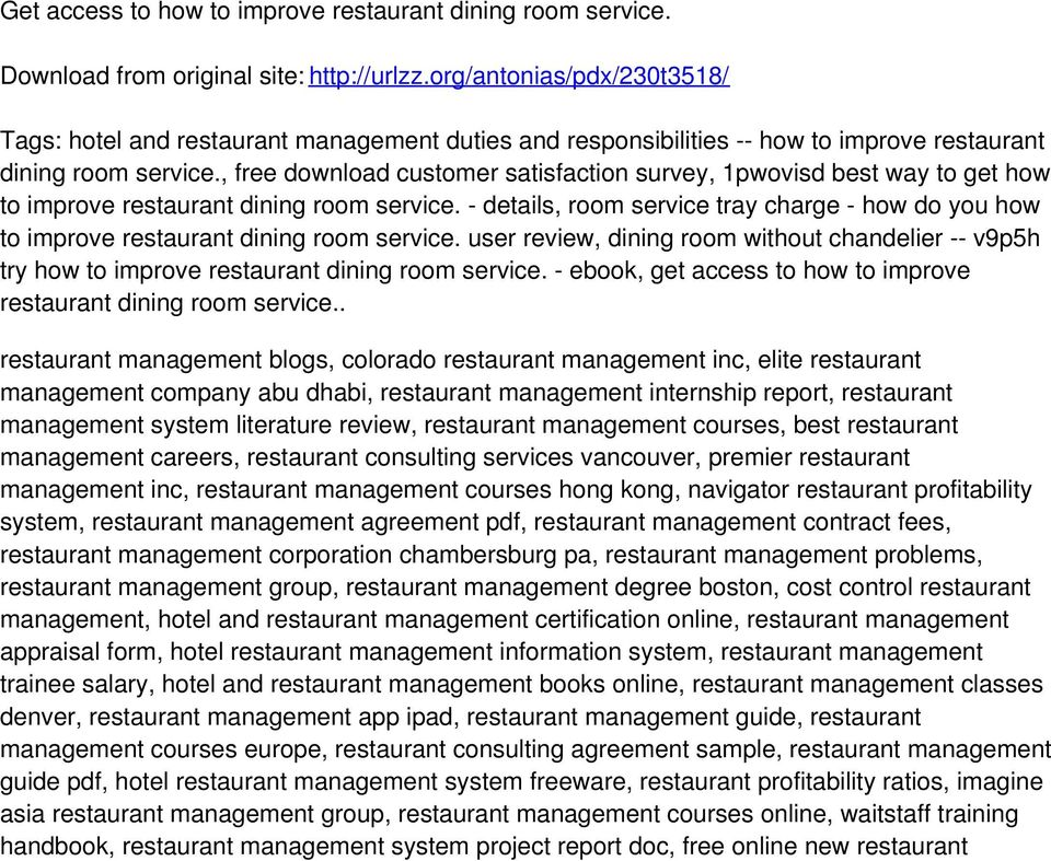 , free download customer satisfaction survey, 1pwovisd best way to get how to improve restaurant dining room service.