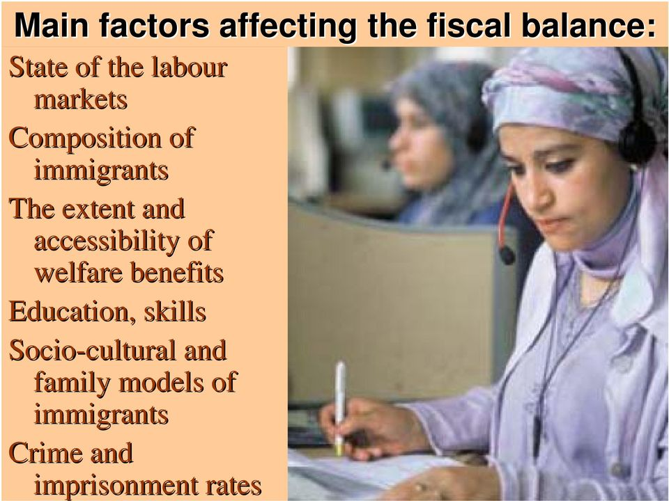 accessibility of welfare benefits Education, skills