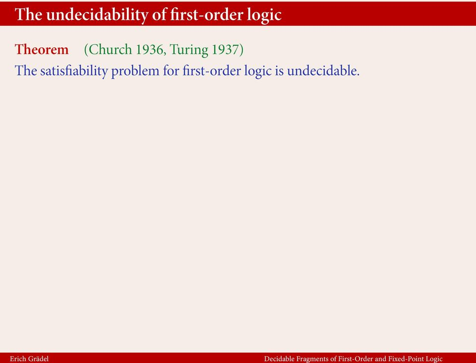 1937) The satisfiability problem