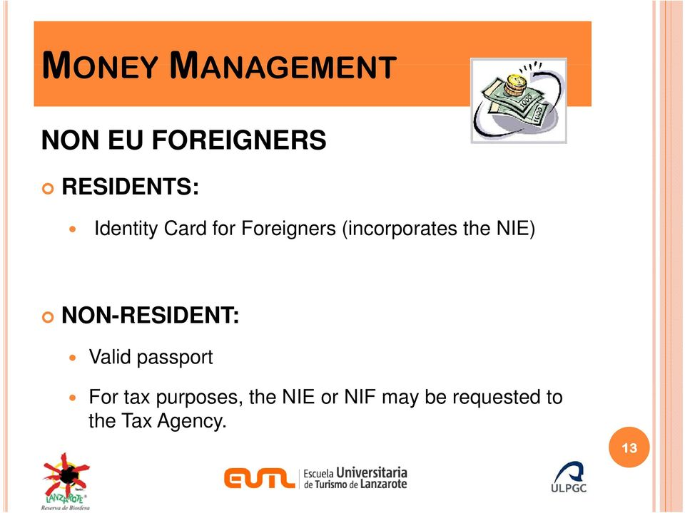 NIE) NON-RESIDENT: Valid passport For tax
