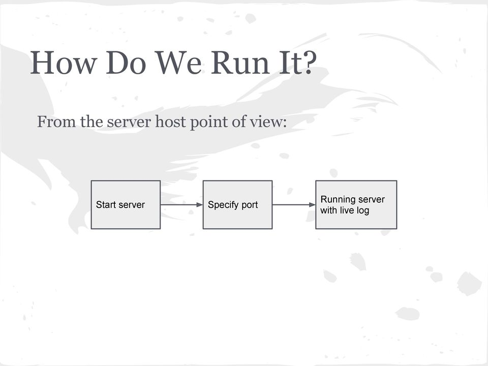 of view: Start server