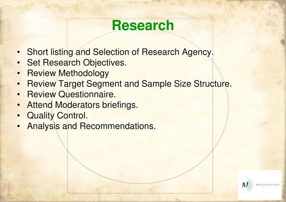 Review Methodology Review Target Segment and Sample Size