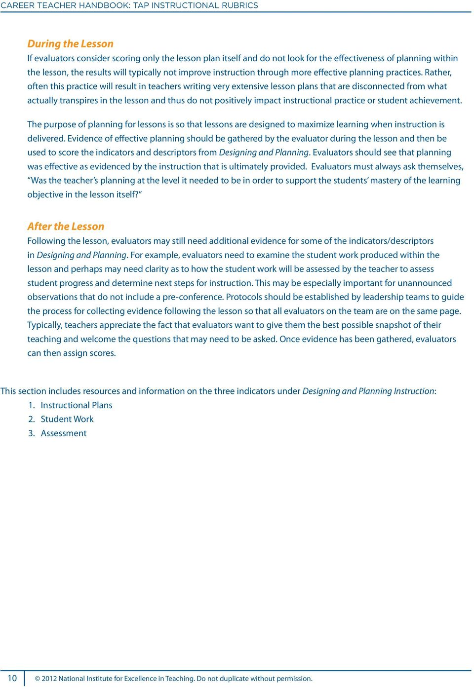 Explanation Of Tap S Teaching Skills Knowledge And Pdf