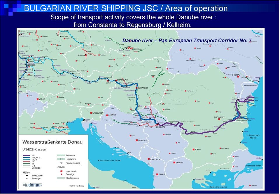Danube river : from Constanta to Regensburg /