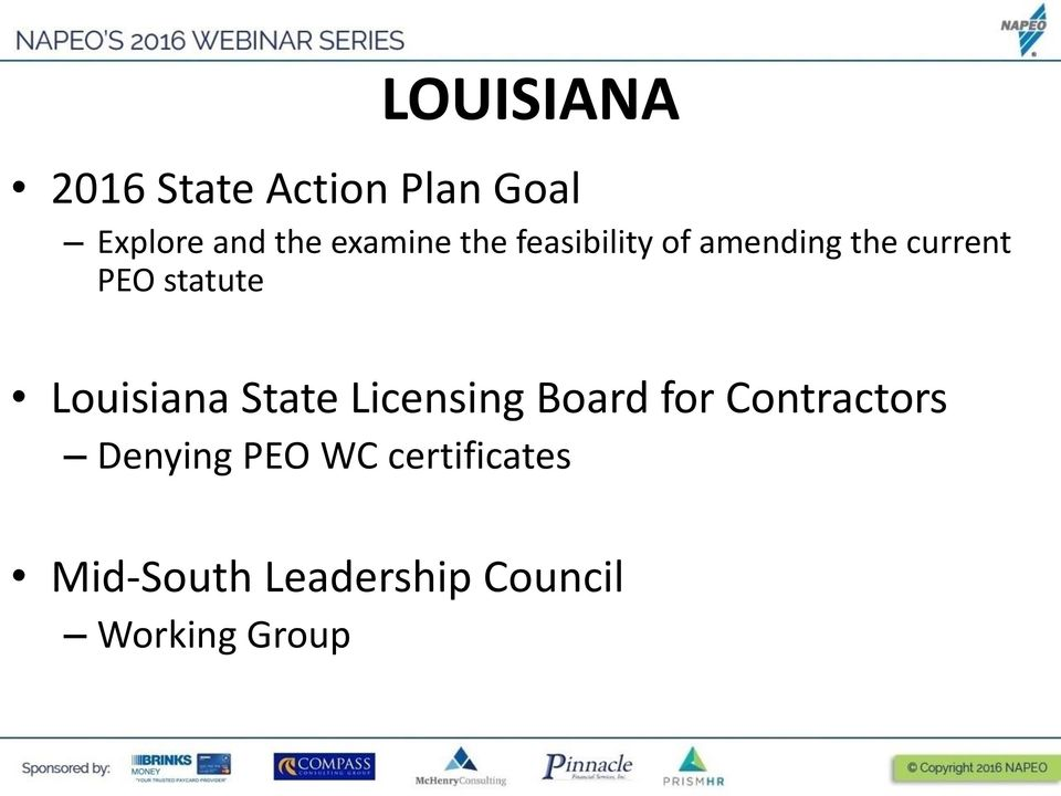 State Licensing Board for Contractors Denying PEO