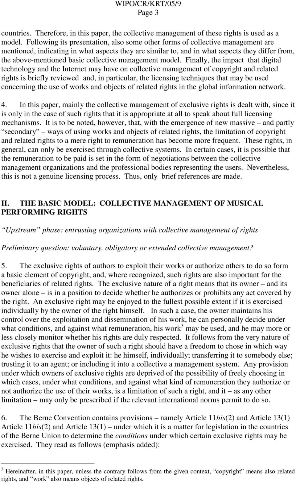 basic collective management model.