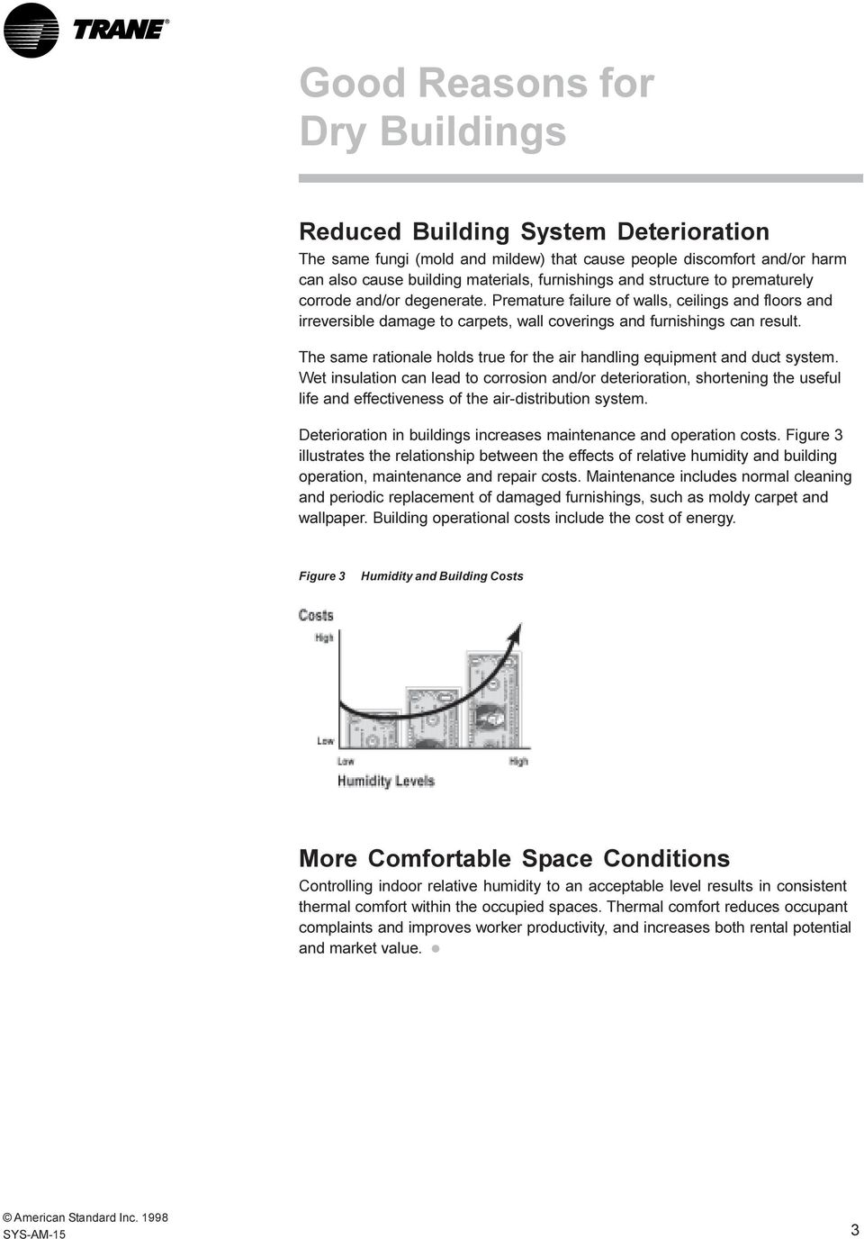 The same rationale holds true for the air handling equipment and duct system.