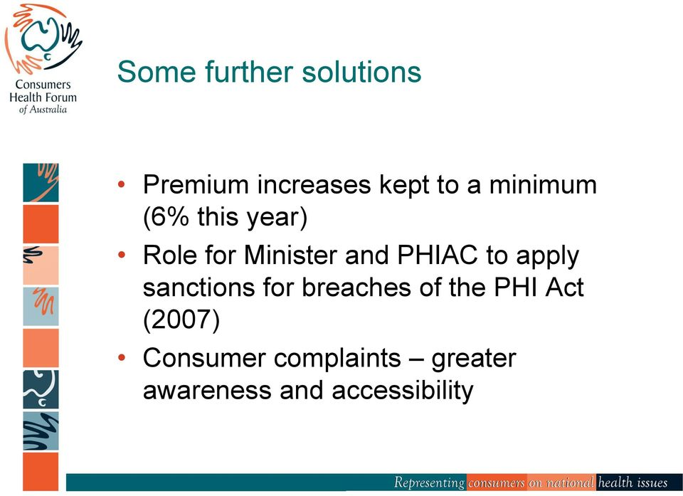 to apply sanctions for breaches of the PHI Act