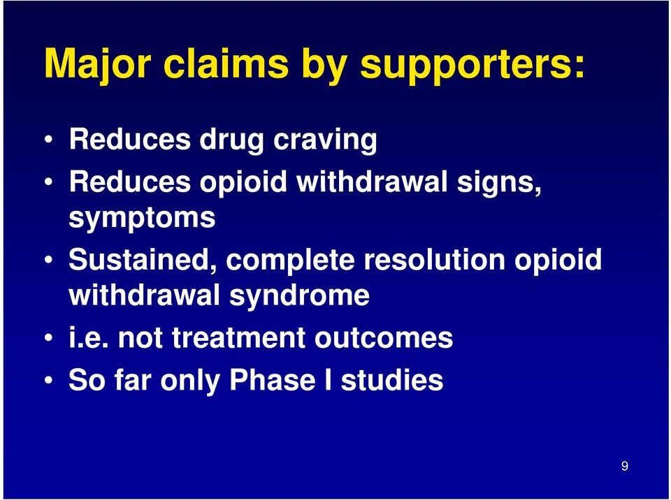 complete resolution opioid id withdrawal syndrome i.