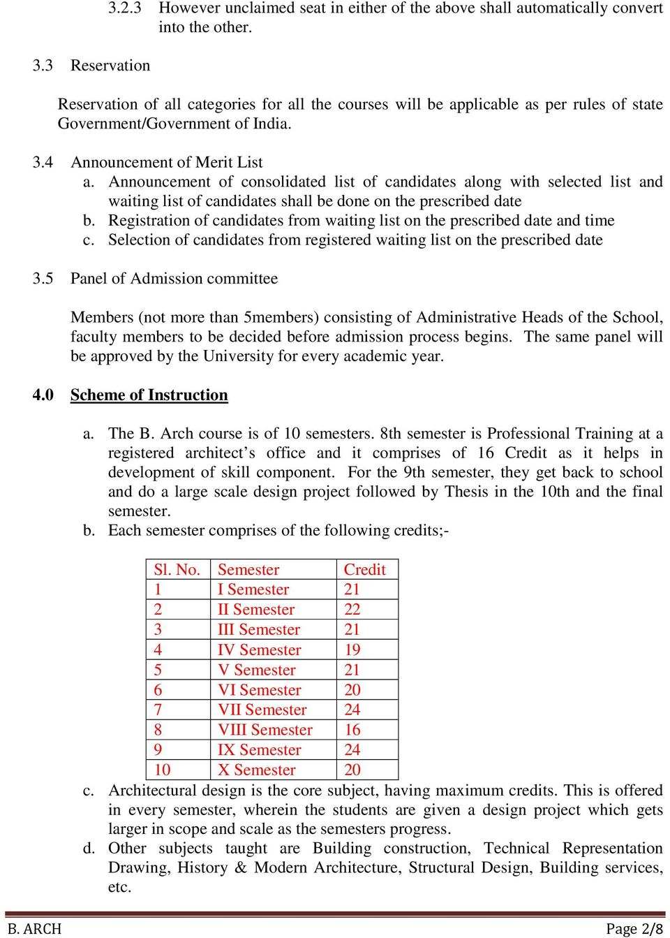 Announcement of consolidated list of candidates along with selected list and waiting list of candidates shall be done on the prescribed date b.
