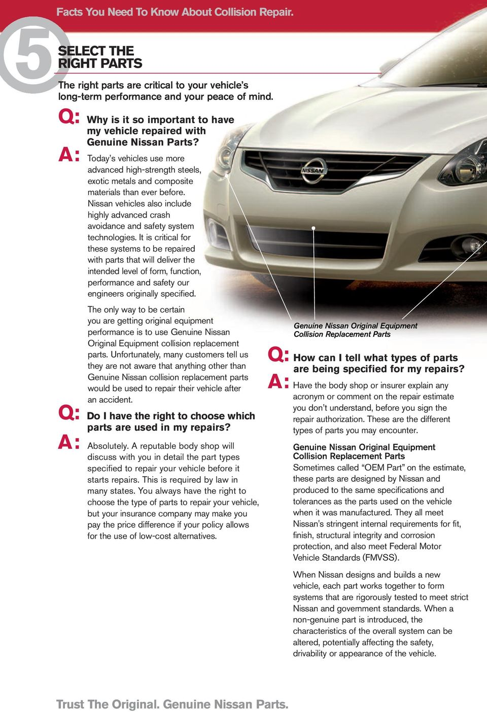 Nissan vehicles also include highly advanced crash avoidance and safety system technologies.