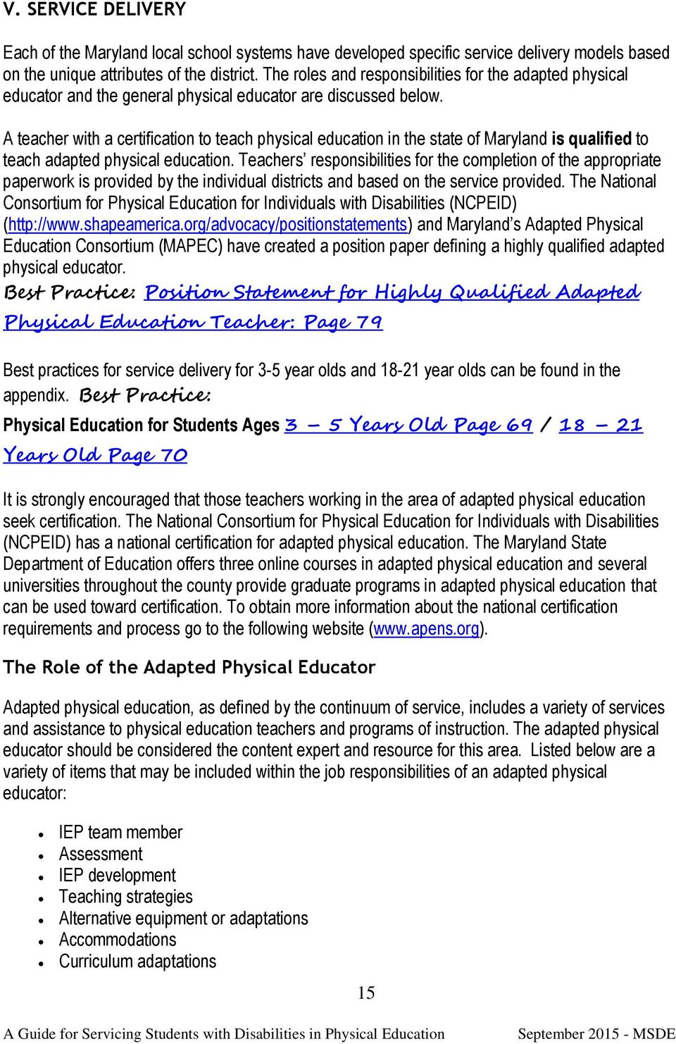 Adaptive Physical Education Certification Best Education 2018