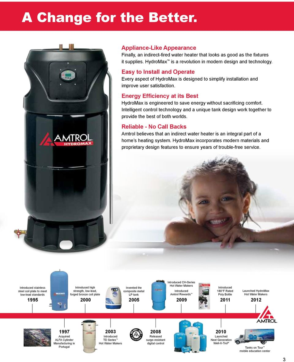 Energy Efficiency at its Best HydroMax is engineered to save energy without sacrificing comfort.