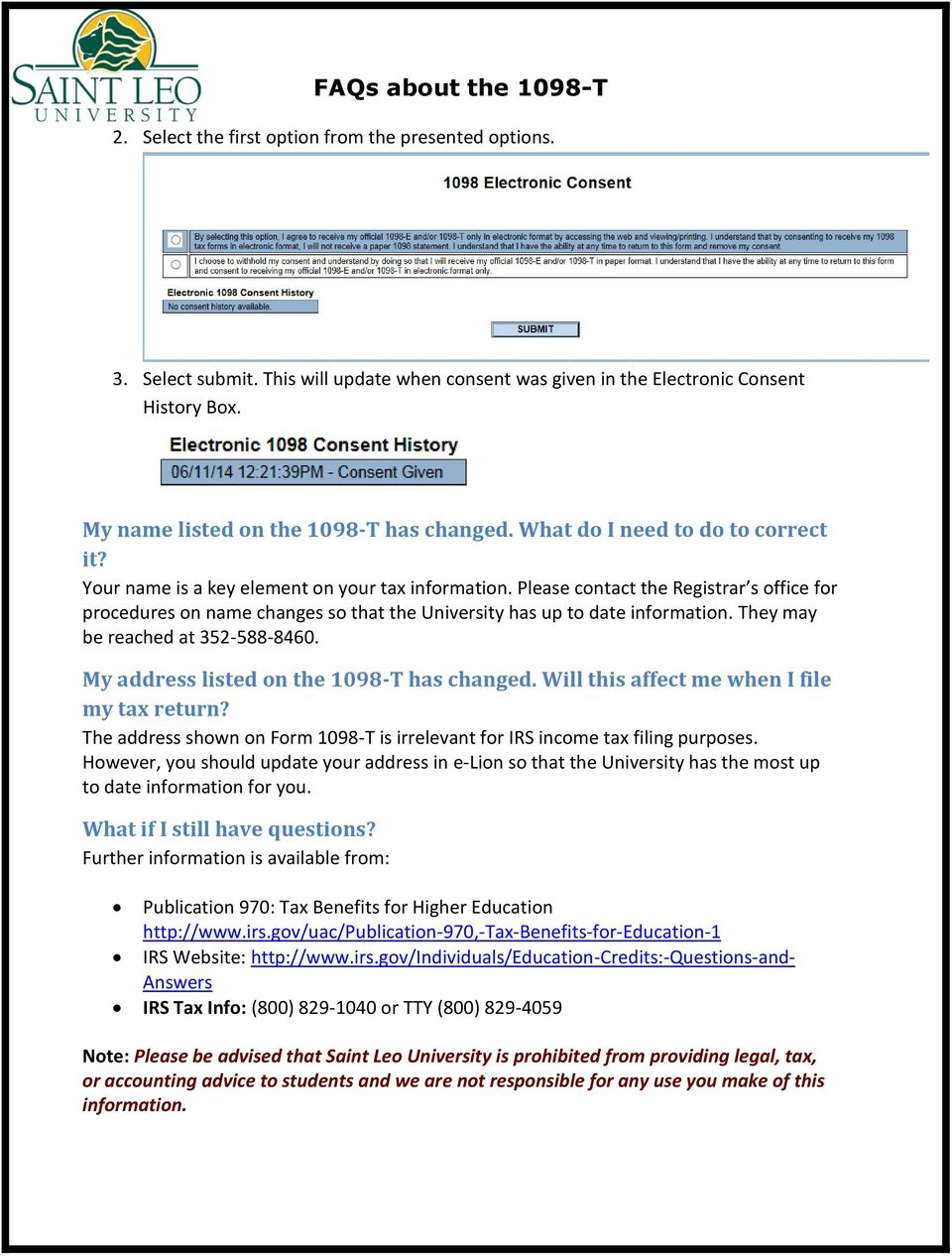 FAQs about the 1098-T Contents - PDF