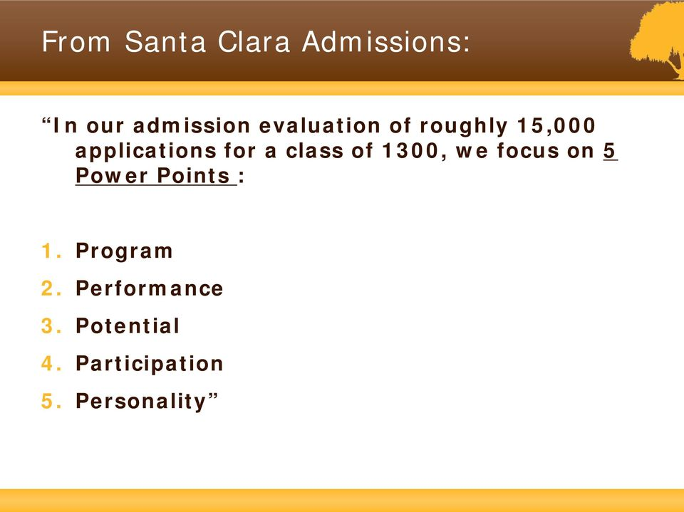 class of 1300, we focus on 5 Power Points : 1.