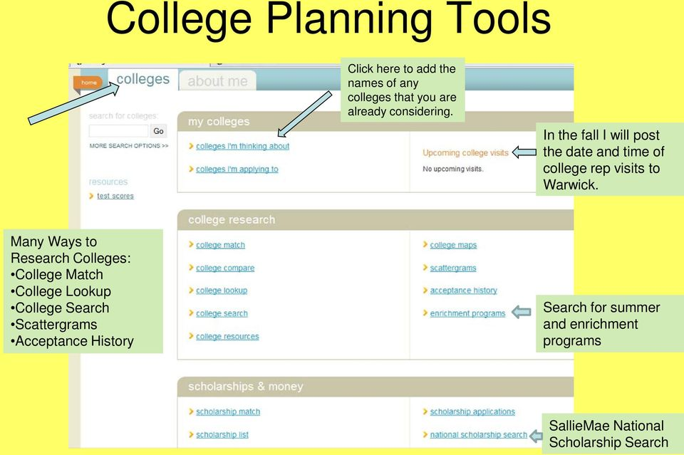 Many Ways to Research Colleges: College Match College Lookup College Search Scattergrams
