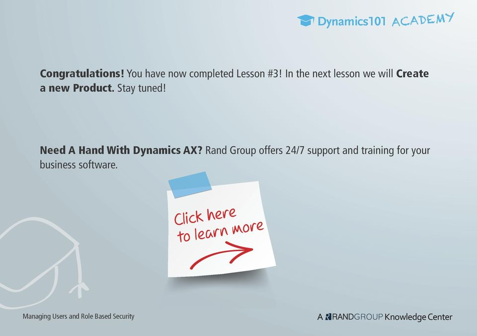 Need A Hand With Dynamics AX?