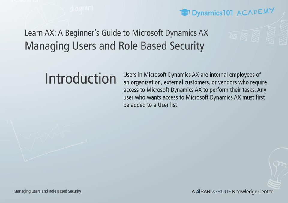 organization, external customers, or vendors who require access to Microsoft Dynamics AX to