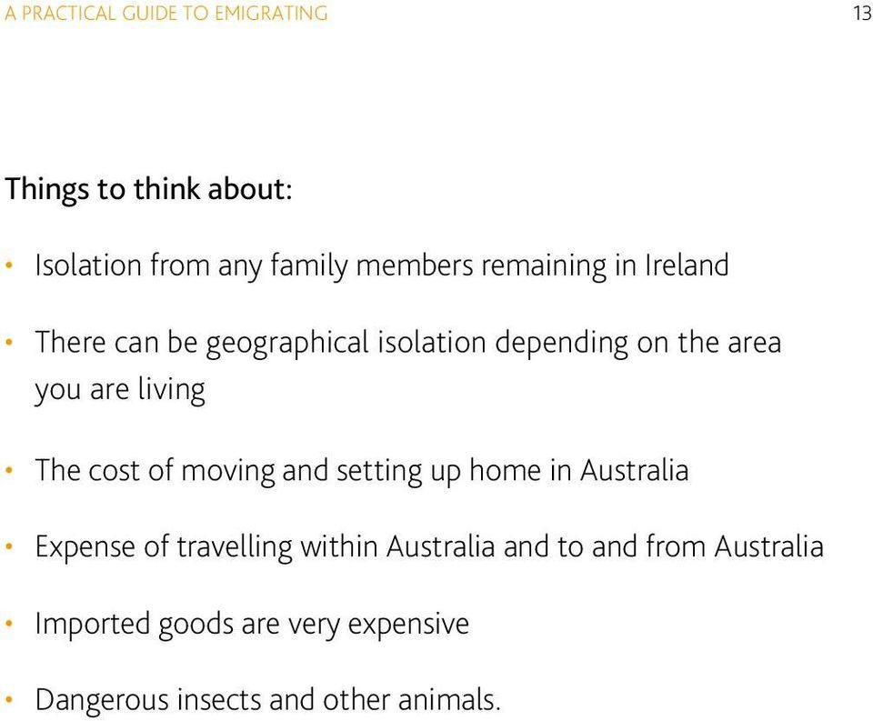 The cost of moving and setting up home in Australia Expense of travelling within Australia