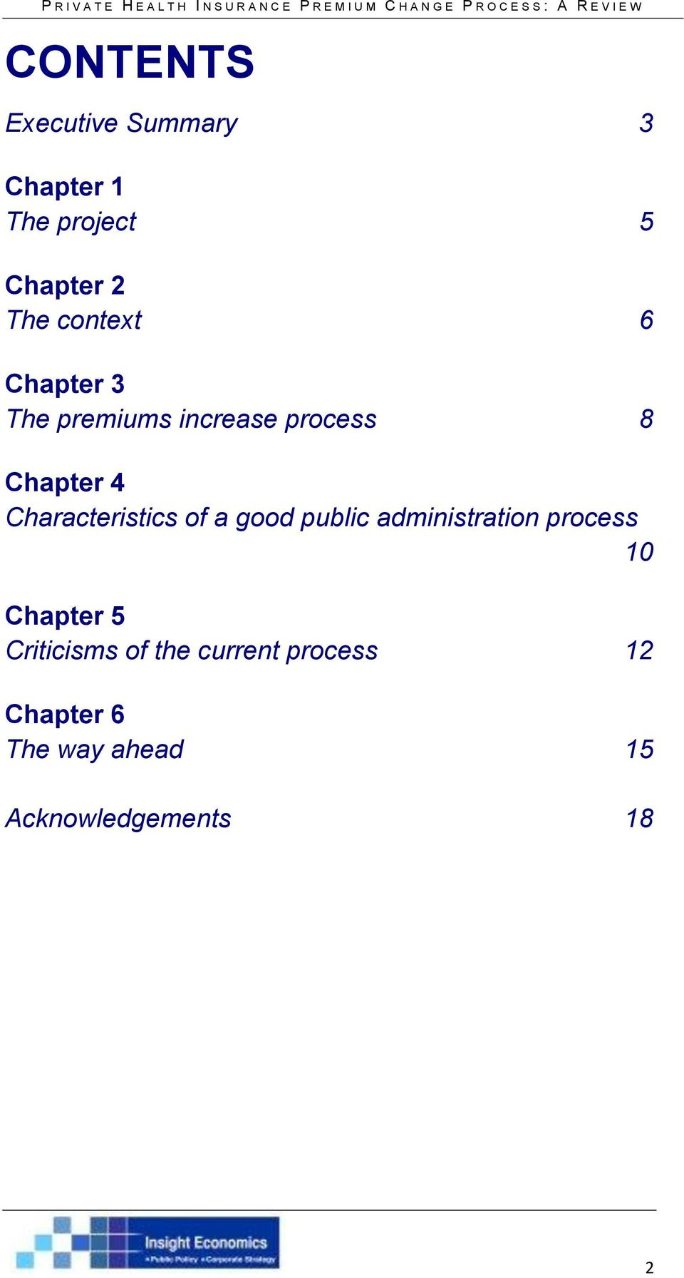 Characteristics of a good public administration process 10 Chapter 5