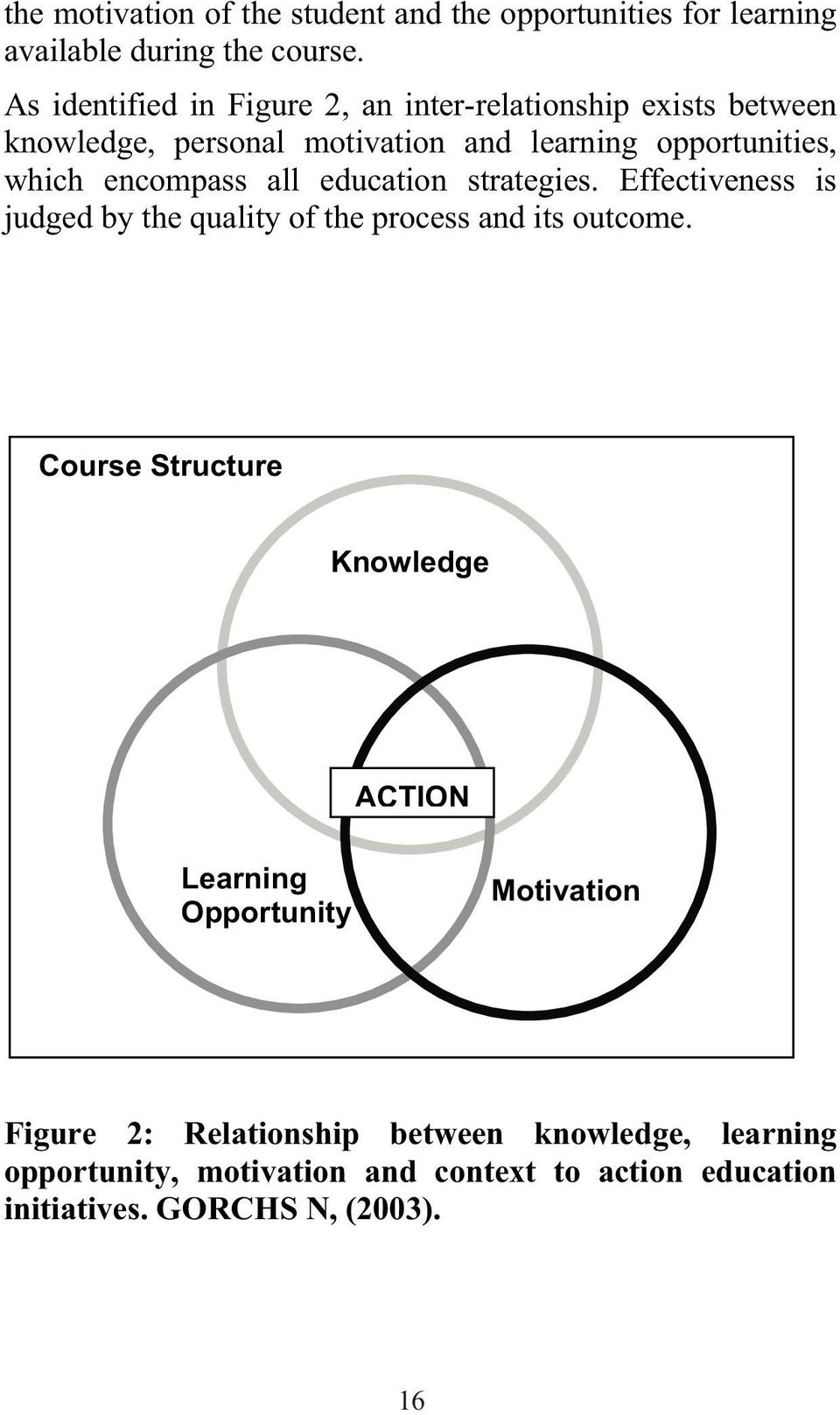 encompass all education strategies. Effectiveness is judged by the quality of the process and its outcome.