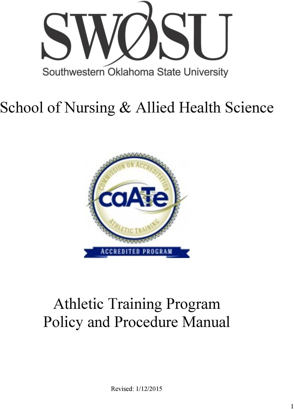 Training Program Policy and