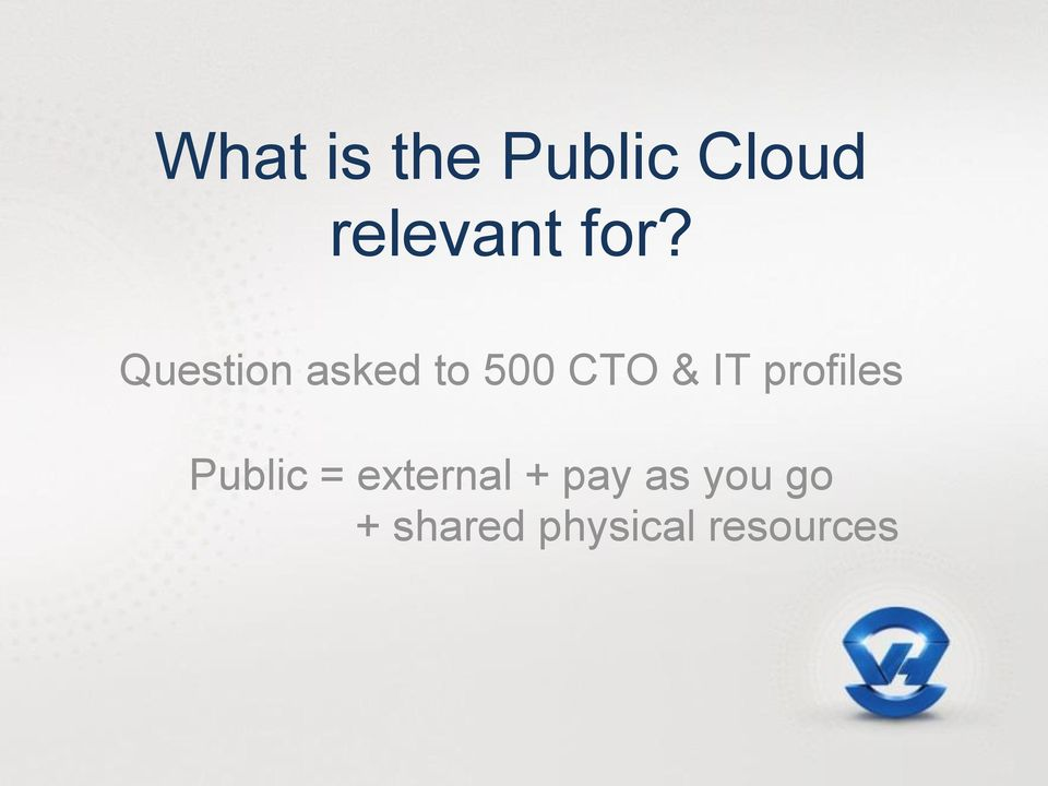 IT profiles Public = external +
