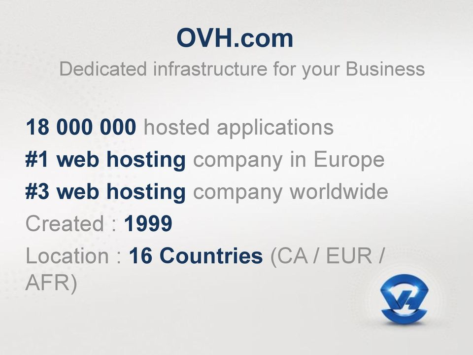 company in Europe #3 web hosting company worldwide