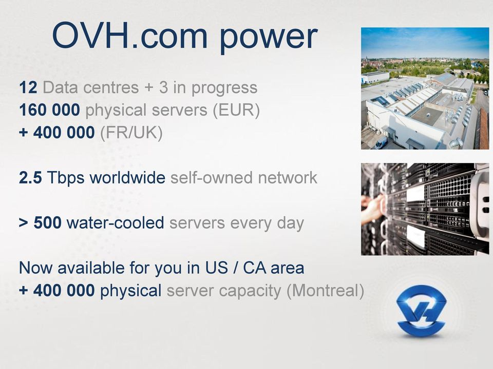5 Tbps worldwide self-owned network > 500 water-cooled servers