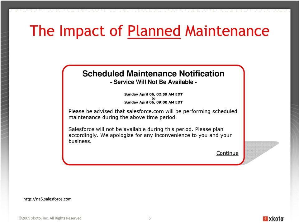 com will be performing scheduled maintenance during the above time period.