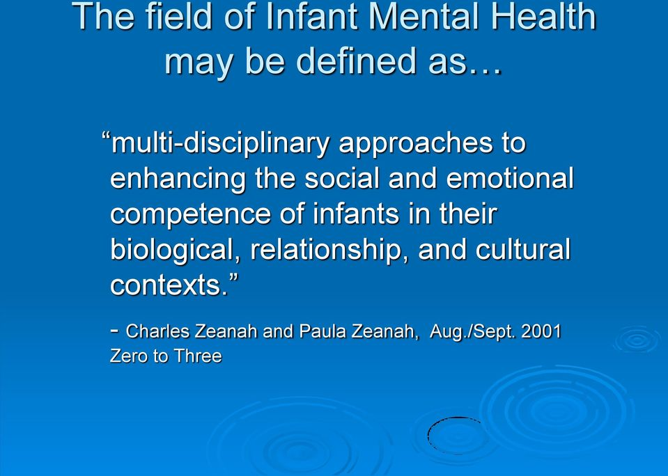 emotional competence of infants in their biological,
