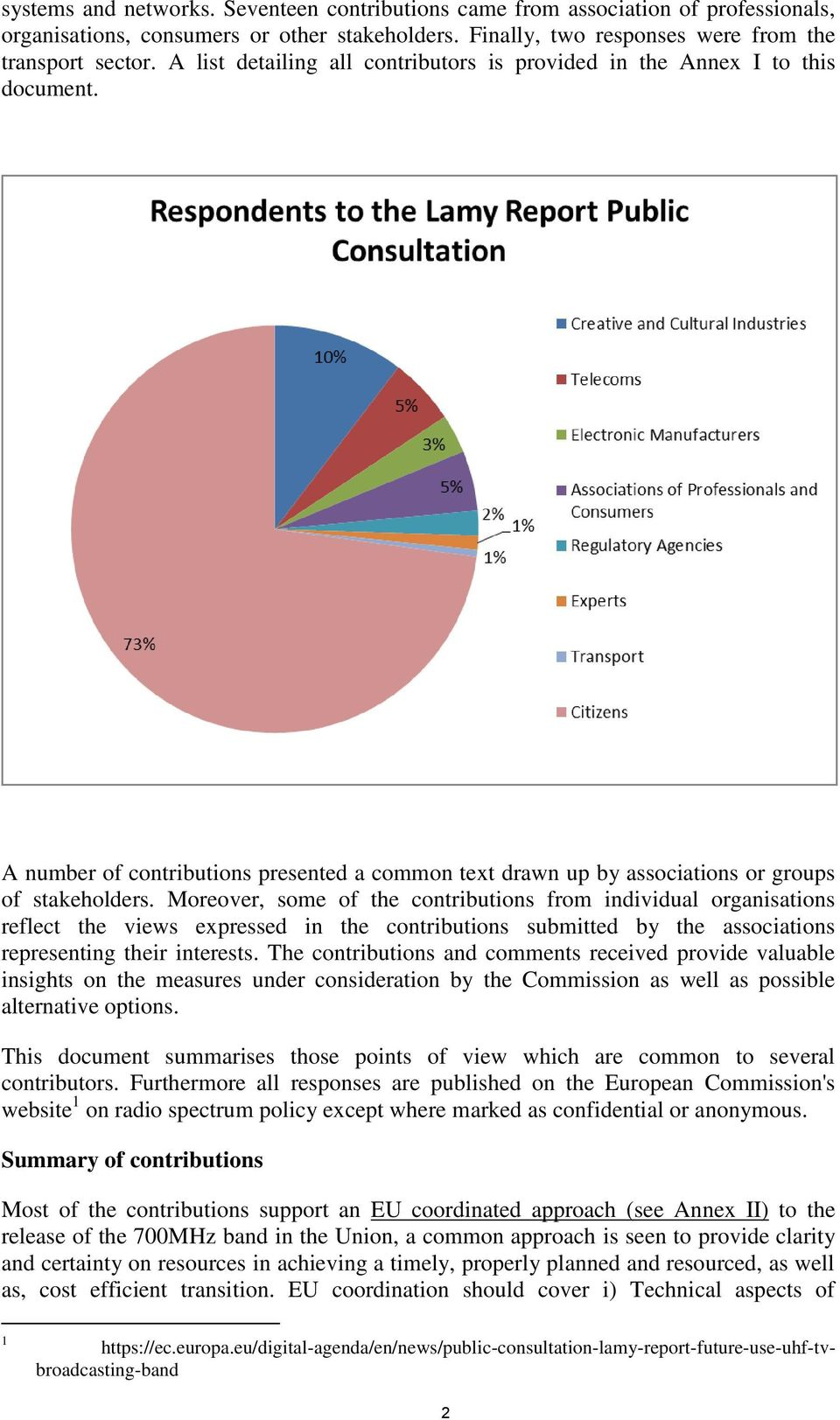 Moreover, some of the contributions from individual organisations reflect the views expressed in the contributions submitted by the associations representing their interests.