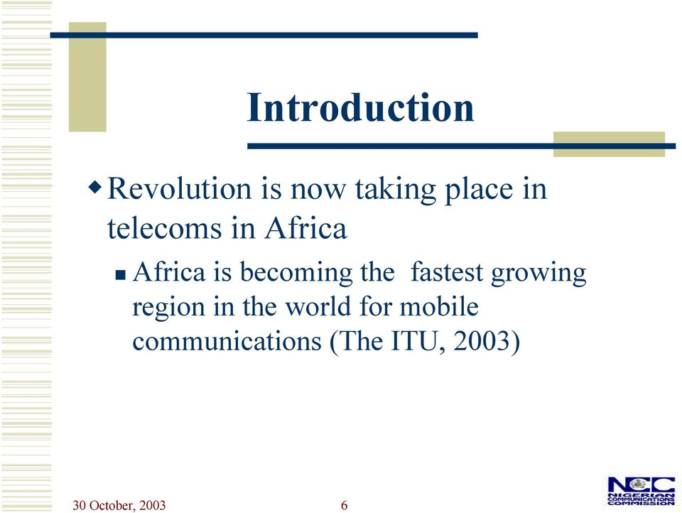 fastest growing region in the world for mobile